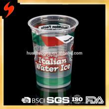 Contenedor de comida desechable de plástico 300ml Congelador Seguro