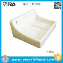 Venda al por mayor el sostenedor de cerámica del jabón del rectángulo simple al por mayor