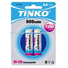 ni-cd battery size AA 800mah in blister card