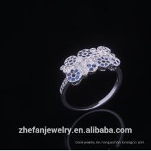 Mode Italienische Eheringe Runde Kristall Dame Juwel Gold Bands Engagement Gilf Für Frauen Rhodium überzogene Schmuck ist Ihre gute Wahl