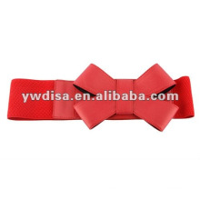 Red Wide Elastic For Belt Making With Bows