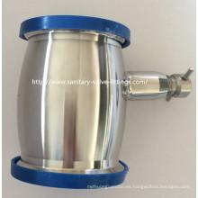 Válvula de retención sanitaria tipo bola de acero inoxidable soldada con drenaje
