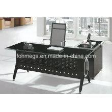 Escritorio ejecutivo de acero moderno del vidrio de los muebles de oficina (FOH-YTJ-8021)