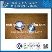 Taiwan Flat Pan Head Hex Drive Pin Offset Zinc Platted Aluminium Standoff Spécial Flat Head Rivet Nut Rivets