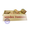 Grado superior modificado para requisitos particulares madera Domino juego de conjunto, domino de madera