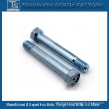 Galvanisierte C1035 Stahlhexkopf-Verschlussschrauben