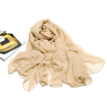 Suger Color Super Large Size Neckwear Polyester Chiffon Scarf