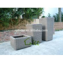 durable outdoor rattan pots vase