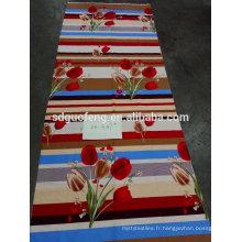Tissu de feuille de lit de CVC de T / C avec l'impression de fleur