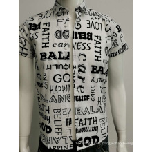 Chemise slim fit à imprimé voile de coton pour homme