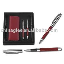 PU leather writing set, promotion pen set