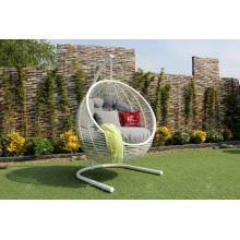 Hamaca de seda sintética elegante - Silla de oscilación con la forma redonda para el patio al aire libre del jardín Muebles de mimbre