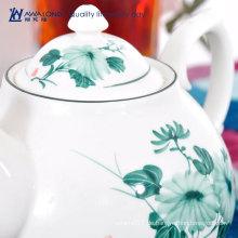 Blaue Blume billige moderne Teekanne und Becher gesetztes einzigartige keramische britische blühende Teekanne eingestellt für Erwachsene