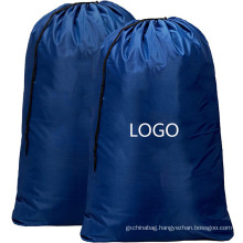 Custom hotel oversize reusable folding polyester drawstring laundry bag