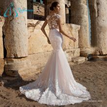 High Quality Lace Appliques Elegant Mermaid Wedding Dress Styles