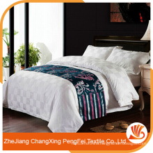 Classic style white color hotel textile fabric bed sheet