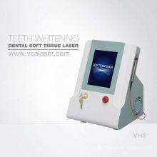 A terapia profunda do laser do tecido remove o tártaro protege os dentes e a higiene oral