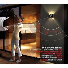 Датчик движения алюминиевый водонепроницаемый светодиодный настенный светильник