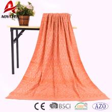 hot selling super soft acrylic crocheted plain cloth winter blanket