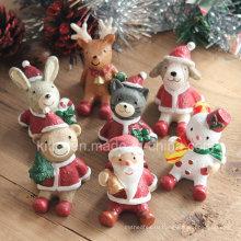 Рождественский подарок, украшение Пластиковые фигурки на Рождество, игрушки