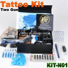 Hochwertiger neuer professioneller Tattoo-Kit mit 2 Pistolen