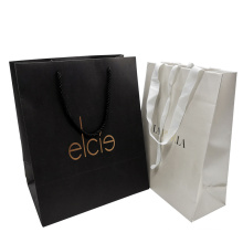 Custom Logo Luxury Cosmetics Gift Paper Packaging Bag for Clothes Garment with Ribbon Handle