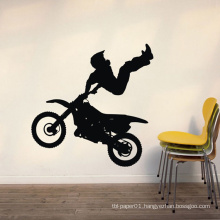 Home Wall Stickers High Quality Durable Moto Man Design Pvc Room Decor Vinyl Wall Decorative Stickers