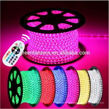 100M Waterproof 220V 14.4W/meter 5050 Flexible RGB LED Strip Light with 24key remote control