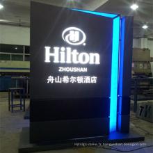 Présentoir de publicité de support d'affichage avec l'éclairage de LED