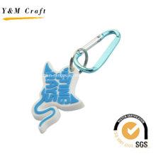Pas cher mais cool personnaliser les anneaux principaux de PVC de mousqueton Ym1114