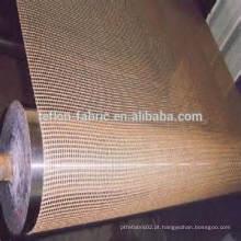 Cinta transportadora de malha de malha de fibra não alimentada personalizada de grau alimentar para forno elétrico