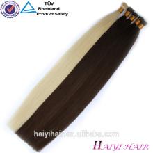 Guangzhou 100% Keratin 0.5G Fusion Remy doble dibujado I-Tip extensión del pelo