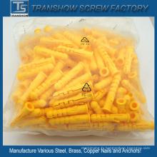 Fournisseur de la Chine pour M6 * 30 jaune en plastique PE ancres
