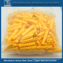 Fornecedor da China para âncoras de PE de plástico amarelo M6 * 30