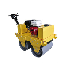Construction Machinery Equipment Human Steering Double Drum Walk Behind Vibratory Road Roller