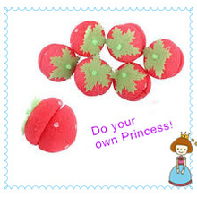 Do Your Own Princess, Beauty Girl DIY Magical Strawberry Sponge Ball for Hair Curling-Styling Roller Curler