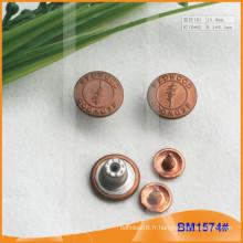 Bouton métallique, boutons Jean personnalisés BM1574