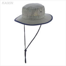 chapeau de seau gris en nylon panama homme personnalisé