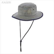 пользовательские нейлона равнина Панама мужская серый ведро шляпа