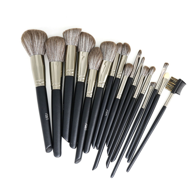 14 Pcs Black Makeup Brush Set 5