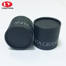 Benutzerdefinierte weiße Tinte Logo schwarze runde Rohrbox
