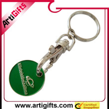 Made in china cheap trolley token coin holder key chain