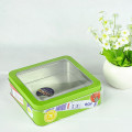 Small Tin Containers, Chocolate Clear Container, Antique Tin Containers