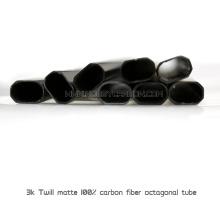 Tubo quadrado de fibra de carbono com 150mm de diâmetro