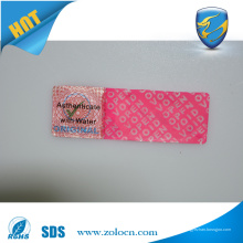 Garantia de garantia personalizada se removido adesivos