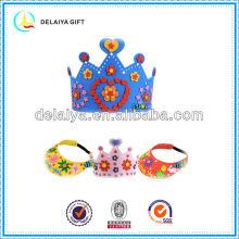 colorful DIY EVA foam crown for children