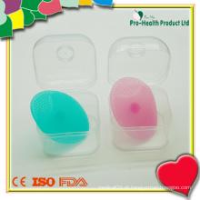 Escova de limpeza facial de silicone para bebê