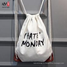 Высокое качество мода холст рюкзак сумка