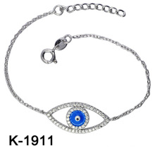Fashion Jewellery 925 Silver Zirconia Blue Eyes Bracelets.