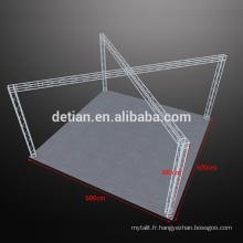 Affichage modulaire de poutre en aluminium, présentoir portatif extérieur